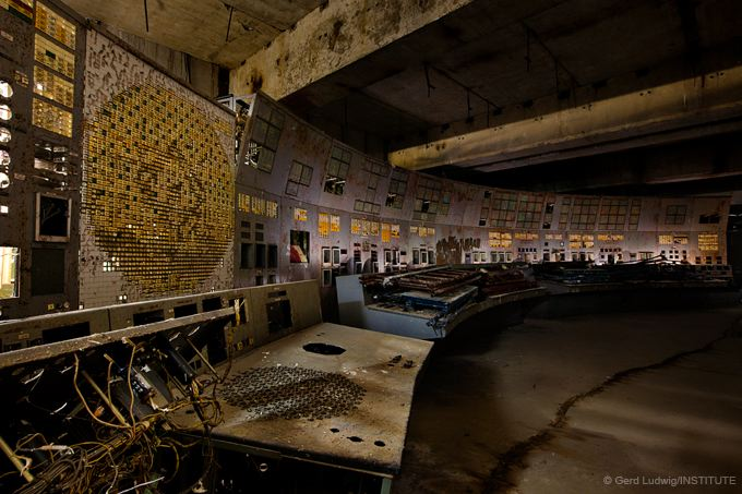 On April 26th, 1986, operators triggered a nuclear meltdown in this control room of reactor #4